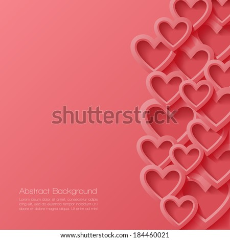 Abstract valentine background. Vector illustration.  - stock vector