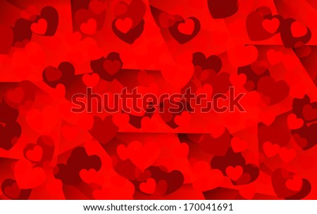 Abstract valentine card vector