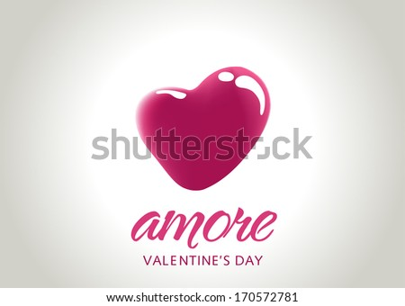 Abstract valentines day hearts, eps10 vector - stock vector