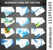 abstract Various 12 Business Card set collection vector - stock vector