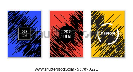 Line Art Design Abstract : Abstract vector art design template cover stock