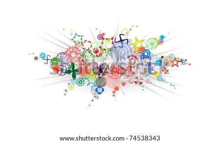 Abstract vector background - a color explosion on white eps8 - stock vector