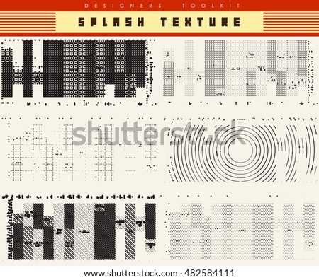 abstract vector background- Black texture combination points