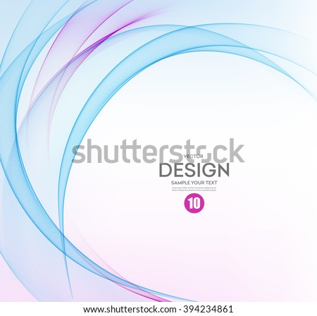 Abstract vector background, blue and purple waved lines for brochure, website, flyer design.  illustration. Motion wave - stock vector