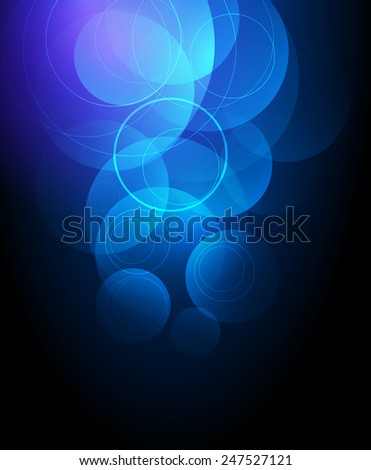 Abstract vector background - blue circles