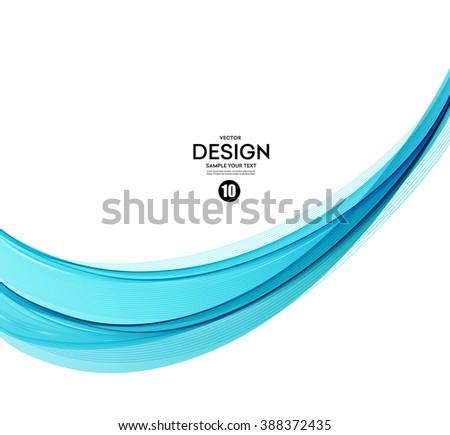 Abstract vector background, blue transparent waved lines for brochure, website, flyer design.  Blue smoke wave. Blue wavy background. Blue wave. Smoke wave blue. Transparent blue wave.Vector blue wave - stock vector