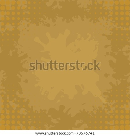 Abstract vector background, brown coffee stains and blots - stock vector