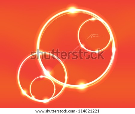 abstract vector background circles illustration - design template - stock vector