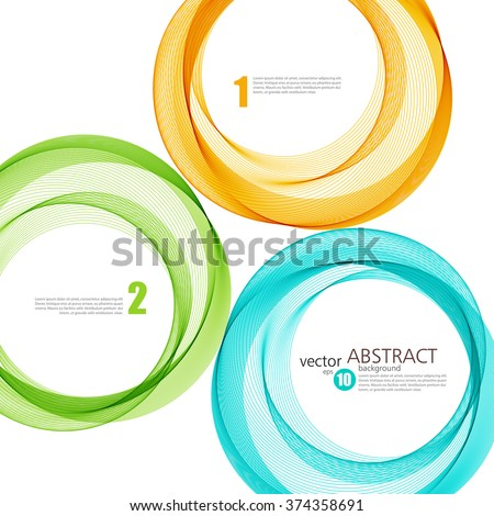 Abstract vector background, color  transparent ring illustration eps10 - stock vector