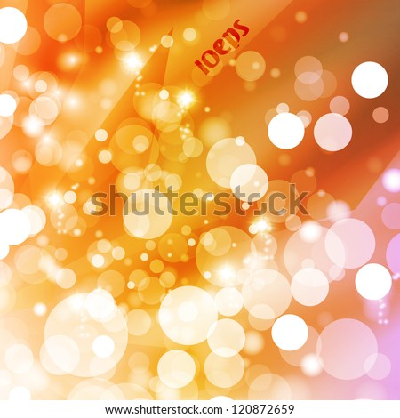 Abstract vector background, colorful lights elements - editable eps10. - stock vector