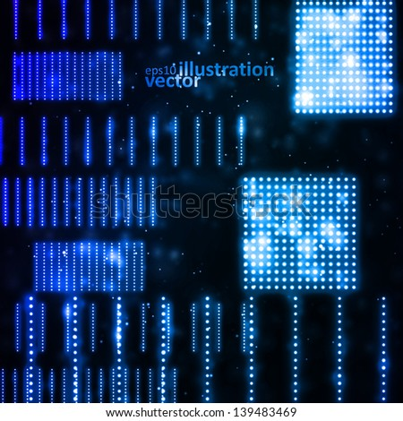 Abstract vector background, creative technology, light neon Illustrations eps10 - stock vector