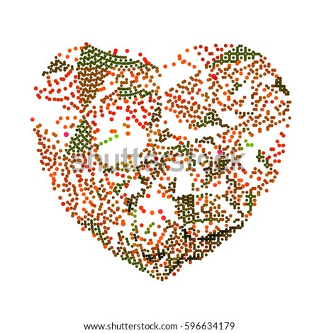 abstract vector background-Dot Graphics-heart