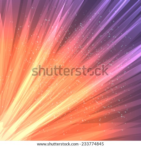Abstract vector background, fantastic cosmic radiance, eps10 - stock vector
