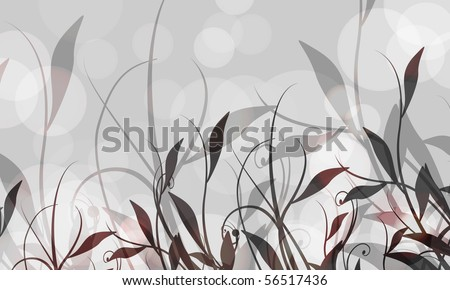 Abstract Vector Background | Floral Foliage | EPS10 - stock vector