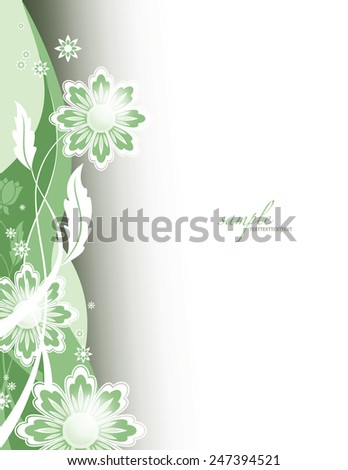 Abstract Vector Background. Floral Illustration. - stock vector