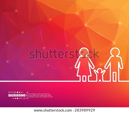 Abstract vector background. For web and mobile applications, illustration template design, business infographic, brochure, creative banner, presentation, poster, cover, booklet, document. - stock vector