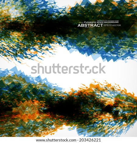 Abstract vector background, futuristic art illustration eps10 - stock vector