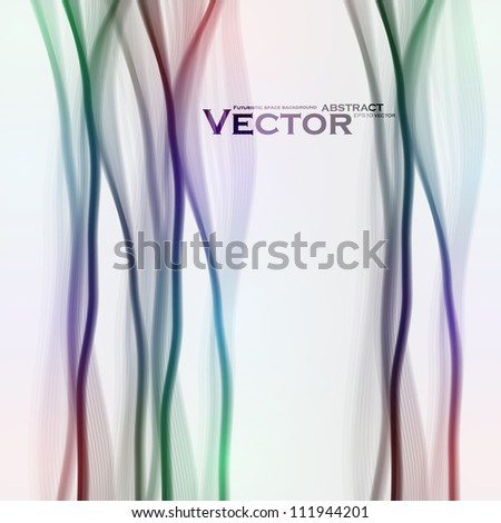 Abstract vector background, futuristic colorful wave illustration eps10 - stock vector