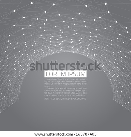 Abstract vector background. Futuristic style card. Elegant background for business presentations. Lines, point, planes in 3d space. Black and white. - stock vector