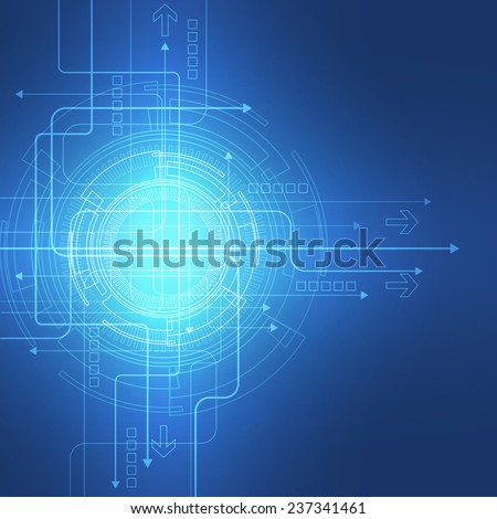 Abstract vector background. Futuristic technology style. - stock vector