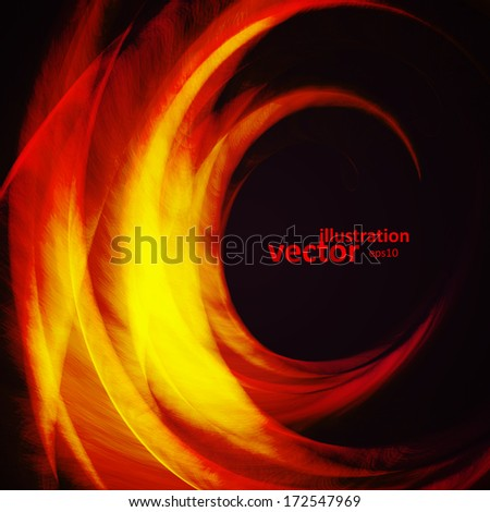 Abstract vector background, futuristic wavy illustration eps10. - stock vector