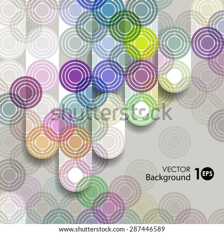 Abstract vector background, geometric pattern of circles. Vector eps 10. - stock vector