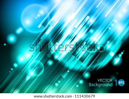 Abstract vector background. Glowing circles and lines. EPS 10