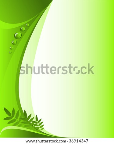 Abstract vector background. Green