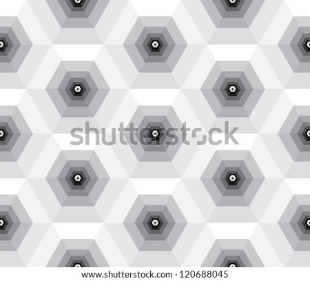 Abstract vector background of black and white pyramids. - stock vector