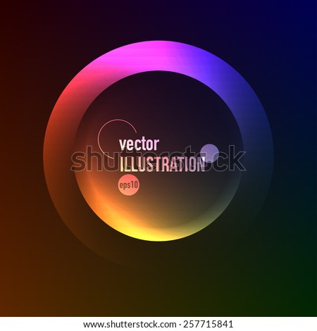 Abstract vector background of colored circles - stock vector