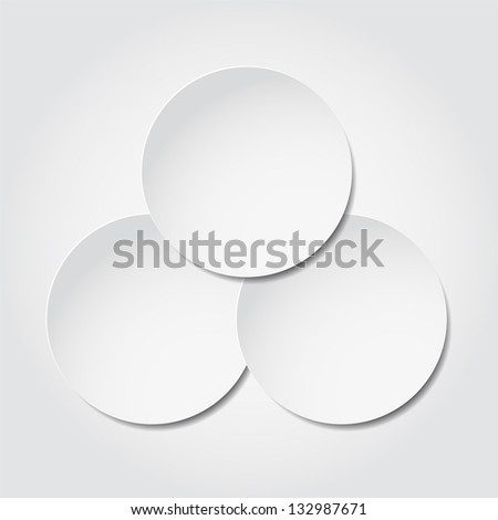 Abstract vector background of paper round bubbles