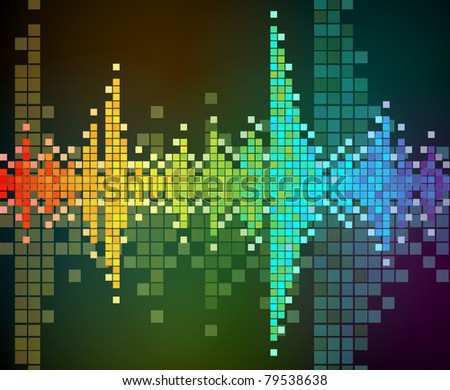 abstract vector background of rainbow colored mosaic. EPS 10. - stock vector