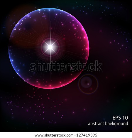 Abstract vector background. Outer space and the explosion of a supernova. - stock vector