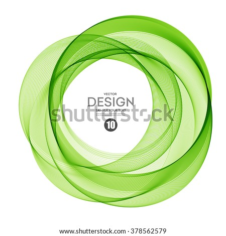 Abstract vector background, round green wavy circle. Circle shape. Circle lines.Green circles. Transparent circle. Vector circle. Abstract wave circles. Circle frame. Circle abstract. Green circle  - stock vector
