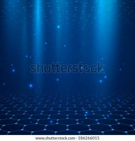 Abstract vector background. Space with depth. - stock vector