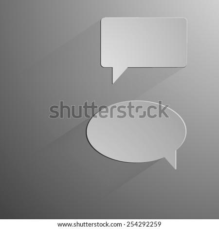 Abstract vector background speech bubble - stock vector