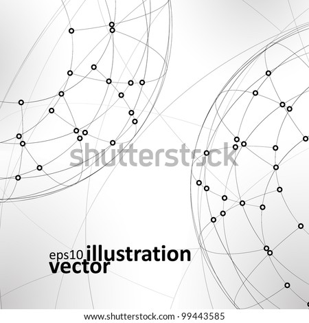 Abstract vector background,  technology illustration, stylish eps10 - stock vector