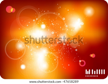 Abstract Vector Background - Transparent Lights - stock vector