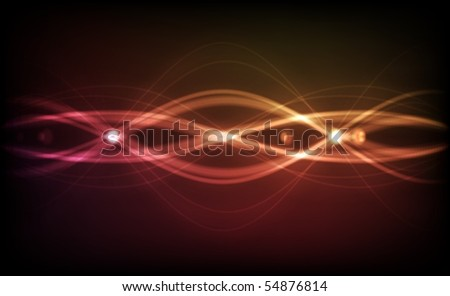 Abstract Vector Background - Transparent Lights on Colorful Wave. EPS10 - stock vector