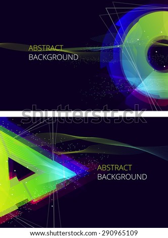 Abstract Vector Background. Trendy Background for you Text. - stock vector