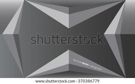 Abstract vector background. Triangle shape  gray background.