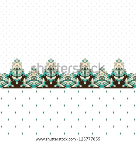 Abstract vector background. Two simple background and border. Oriental pattern with paisley and decorative items. Ample opportunities for use. Easily edit the colors. - stock vector