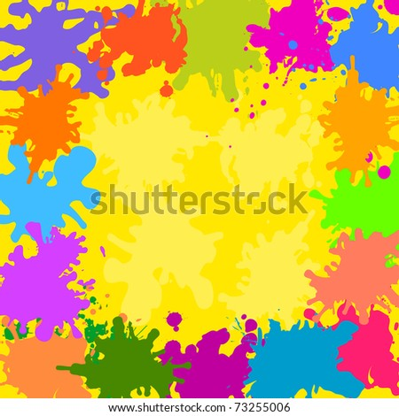 Abstract vector background, various colored stains blots - stock vector