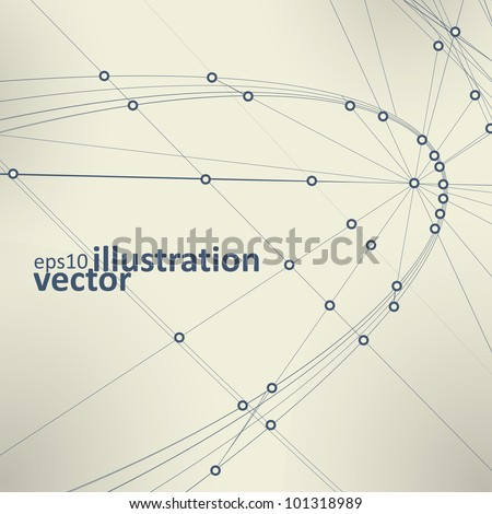 Abstract vector background, vintage technology illustration eps10 - stock vector