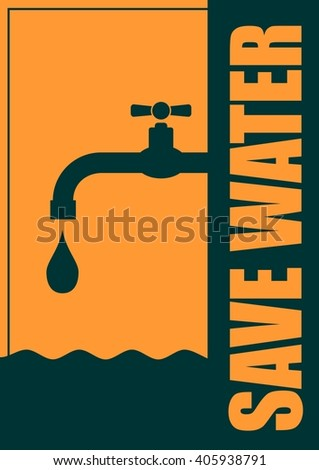 Abstract vector background. Water conservation concept. Ecology Saving - stock vector
