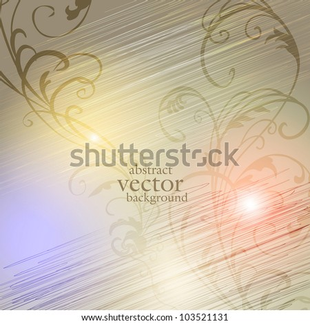 abstract vector background with a flower ornament - stock vector