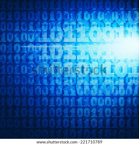 Abstract vector background with binary code. Eps8. RGB. Global colors. Gradients used. - stock vector