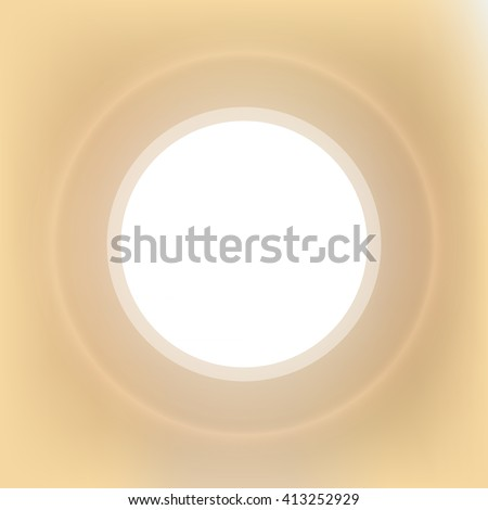 Abstract vector background with blurred lights and white space for text. Warm sand colors. Design element for flyer, advertising, banner - stock vector