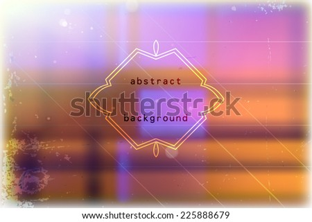 Abstract vector background with blurred multicolored block pattern and grunge texture - stock vector