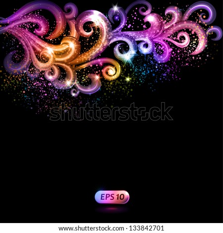 Abstract vector background with colorful swirls. - stock vector